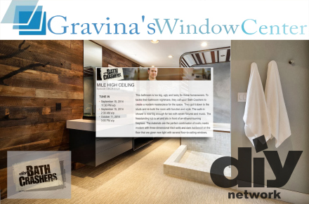 diy network, bath crashers, matt muenster, gravinas window center, gravina window and siding