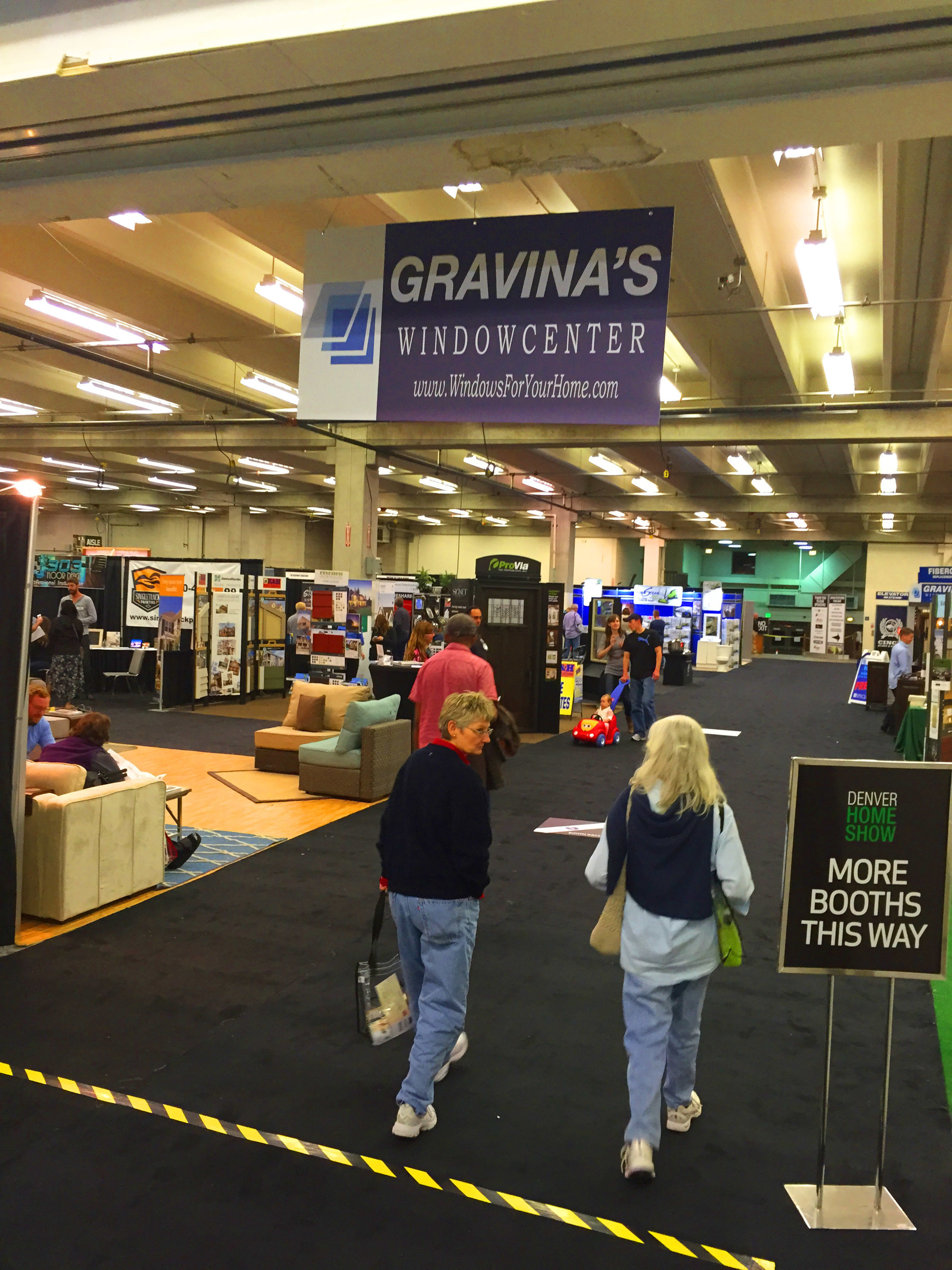GRAVINAu0027S WINDOW CENTER OF LITTLETON MEET CUSTOMERS, TALK FIBERGLASS  WINDOWS AT THE 2016 DENVER HOME AND GARDEN SHOW